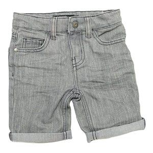 Light Grey Roll Up Denim Shorts